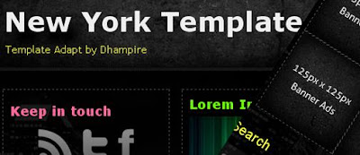 New York Template for blogger 3