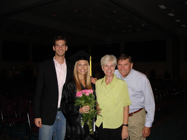 Chris and his family supporting me at graduation!