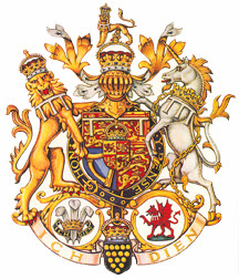 Houses of Judea and Israel - lion and unicorn - depicted in the english royal coat of arms (British Israel)