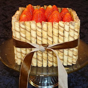 Strawberries and Ganche Basket Cake