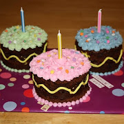 Brownie Birthday Mini-Cakes