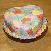 Conversation Hearts Cake