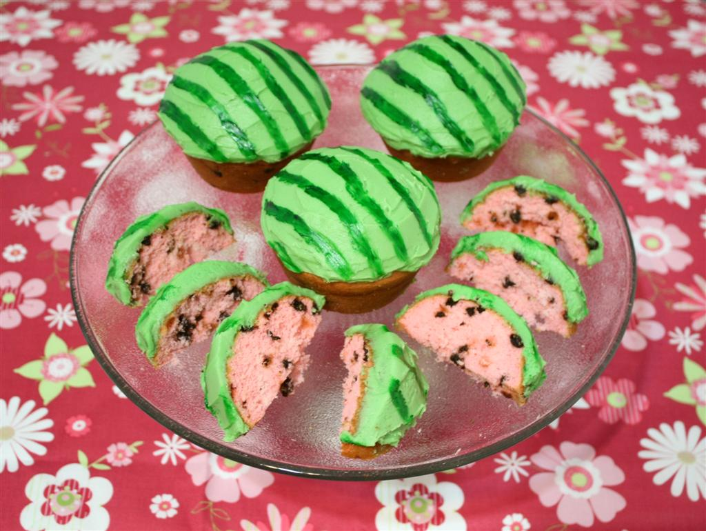 Patty Cakes Bakery: Watermelon Cupcakes