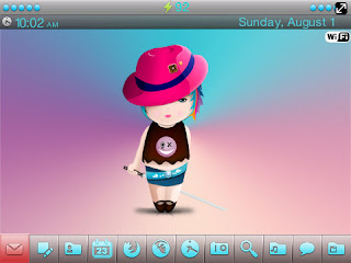 Little Samurai Girl BlackBerry Theme Little Samurai Girl BlackBerry Curve 8520/8530 Themes