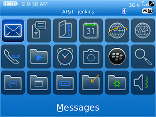 BlackBerry Themes Basic Blue Icons Basic Blue BlackBerry Curve 8520/8530 Theme