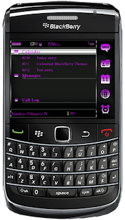 Simplicity Purple BlackBerry Themes Simplicity Purple