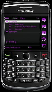 Simplicity Purple BlackBerry Themes Simplicity Purple