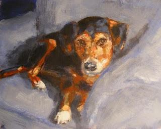 Dog painting Jack