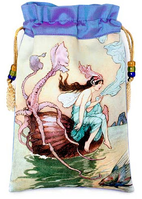 The Nautilus Shell. Art Deco fairytale tarot bag.