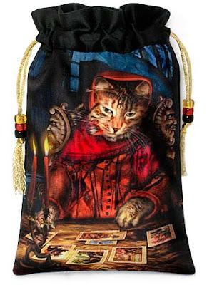 Baroque Bohemian Cats' Tarot, tarot bag drawstring pouch. Tarot Reader.