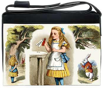 Alice in Wonderland women's laptop bag
