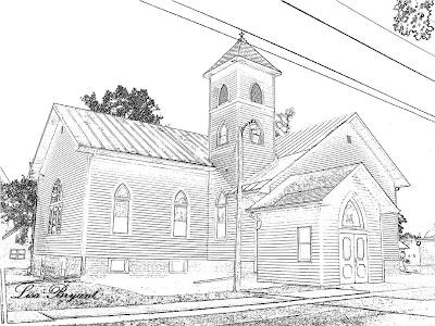 Koleksi mewarnai gambar gambar gereja kristen