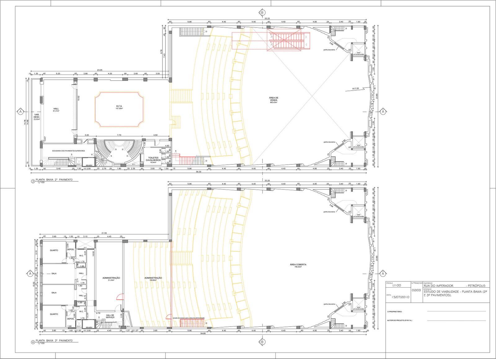 Amado Dico Mattos: Trabalho desenho arquitetura - Planta baixa cinema 2 OM13