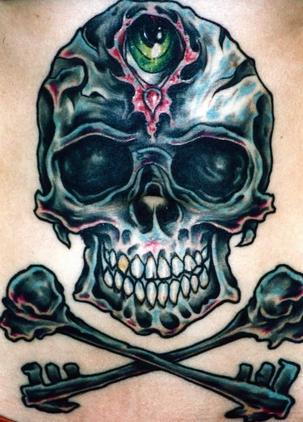 skull tattoo with crown. skull tattoo with crown. skull