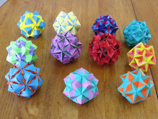 Collection of Tomoko Fuse Floral Origami Globes