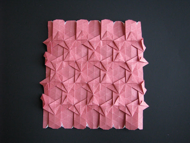 Eric Gjerde Red Double Pleat Hexagon Tessellation front