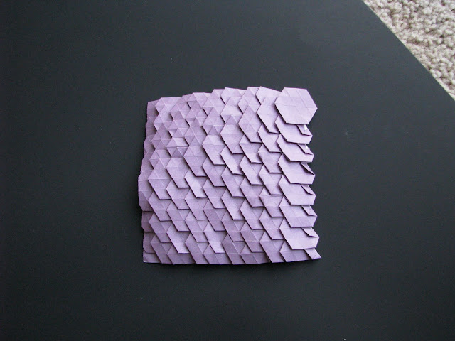 Eric Gjerde Purple Spread Hexagon Tessellation front