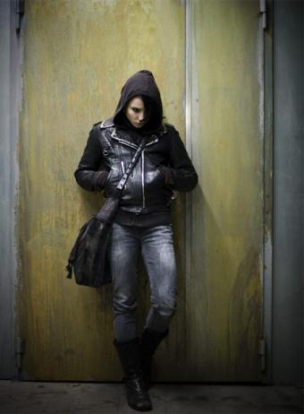 This is the heroine of the book, the girl with the dragon tattoo; Lisbeth