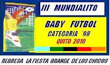 REGRESA LA FIESTA GRANDE DE LOS CHICOS - III MUNDIALITO DE BABY FUTBOL