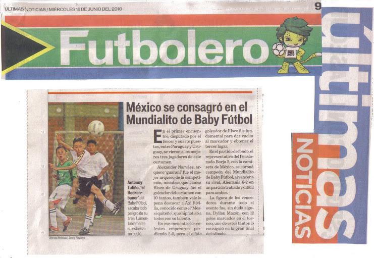 REPORTAJE DEL DIARIO ULTIMAS NOTICIAS - MIERCOLES 16 DE JUNIO 2010