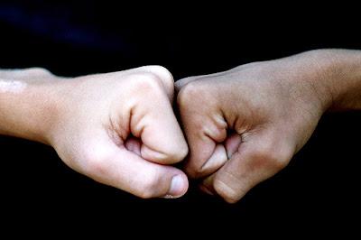 Dumb Fist bumping is