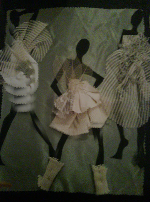 years and years back i tried to make dresses for paper dolls