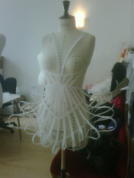 Cage Dresses I Made for the L'Oreal Colour Trophy
