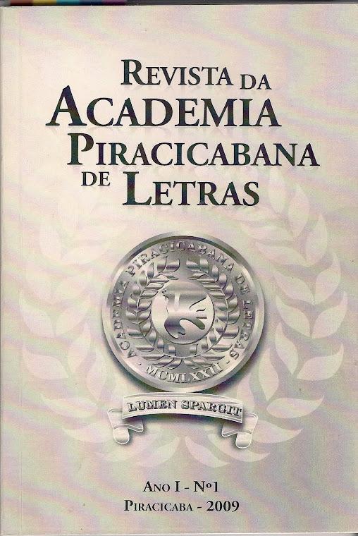 Revista da Academia Piracicabana de Letras - vol 1
