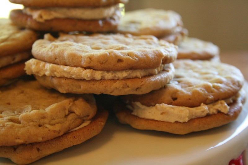 ... cream cheese filling or maybe strawberry filling. But peanut butter is