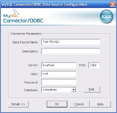 Congfig MySQL ODBC