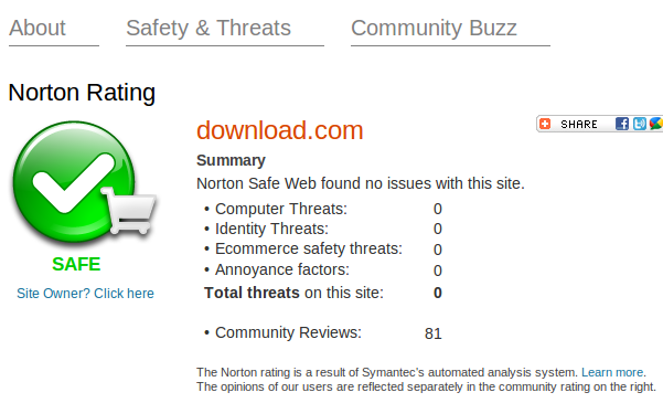 Norton Safe Web is a free tools to check any website to to find ...