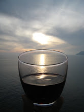 sunset of vino