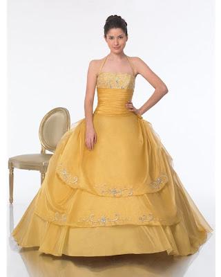 vestidos de 15 a�os dorados. Foto de Vestido de 15 Años