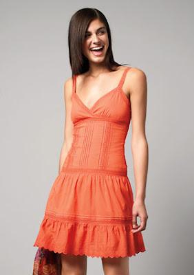 Vestido Noche/Casual - Color Naranja