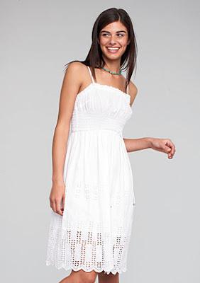 Vestido Noche/Casual - Color Blanco
