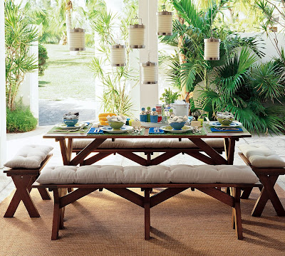 Tis The Season Its The Little Things That Make A House A Home - Pottery barn picnic table