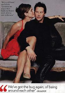 Keanu Reeves and Sandra Bullock