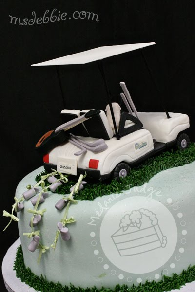 golf cart cake topper