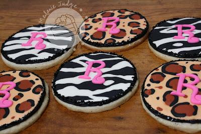 zebra leopard print sugar cookies royal icing
