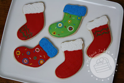 christmas stocking cookies royal icing