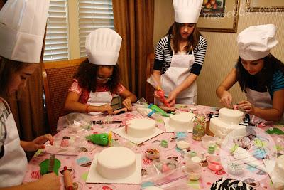 cake decorating birthday party