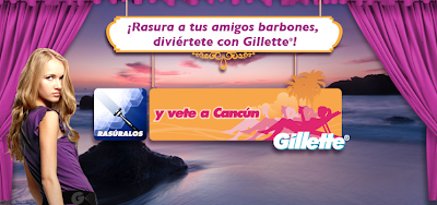 Gillette viaje a cancun
