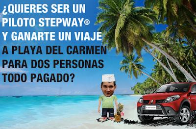 concurso Renault® Stepway®, Comienza el juego viaje a Playa del Carmen, Quintana Roo