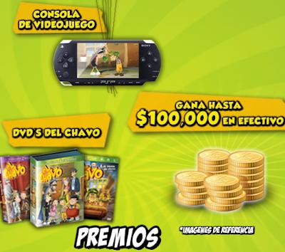 premios PlayStation Portable dvds del chavo promocion el chavo se te chispoteo de Gamesa