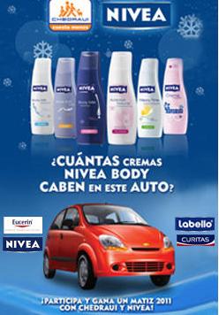 premio automovil Matiz 2011 Concurso  de Nivea y chedraui