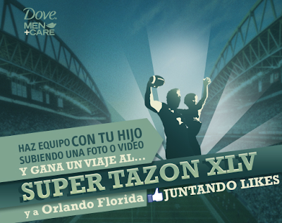 premio viaje super tazon parque de diversion Disney promocion Dive Men care Mexico 2010 2011