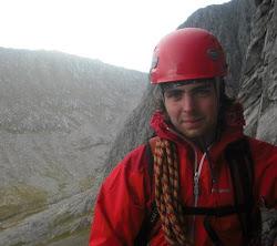 Me on the Douglas Boulder, Ben Nevis