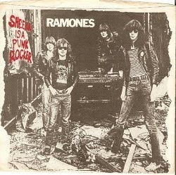 Ramones Sheena is a Punk Rocker 45 picture sleeve