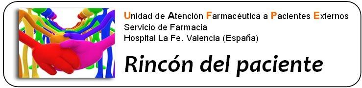 UFPE Hospital La Fe - ÁREA DE PACIENTES
