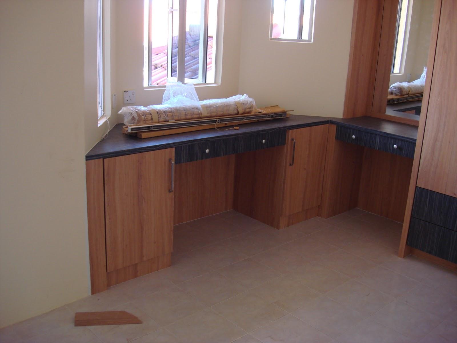 Interior design renovation kuala terengganu kitchen and - Master bedroom study table ...